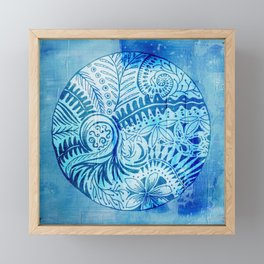 New Zealand inspired Mandala Framed Mini Art Print