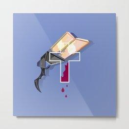 Lucian´s Gun Blue Metal Print