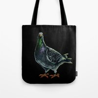 pigeon Tote Bags featuring Pigeon by Sarah Jane Rozman