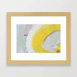 Waves: Lemon Framed Art Print