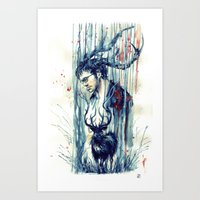 will graham Art Prints featuring Will Graham by AkiMao