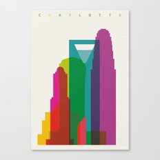 Shapes of Charlotte accurate to scale Canvas Print