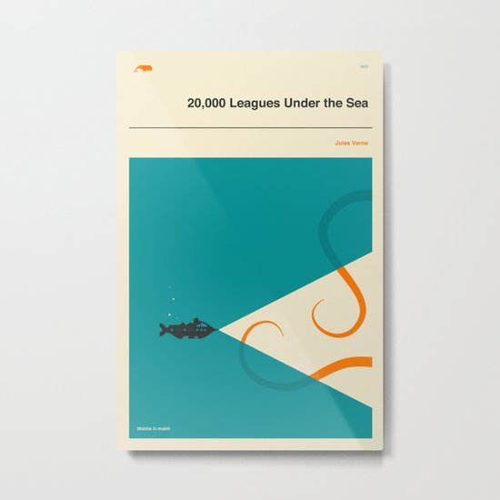 20,000 Leagues Under the Sea Metal Print