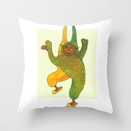 dancing rabbit Throw Pillow