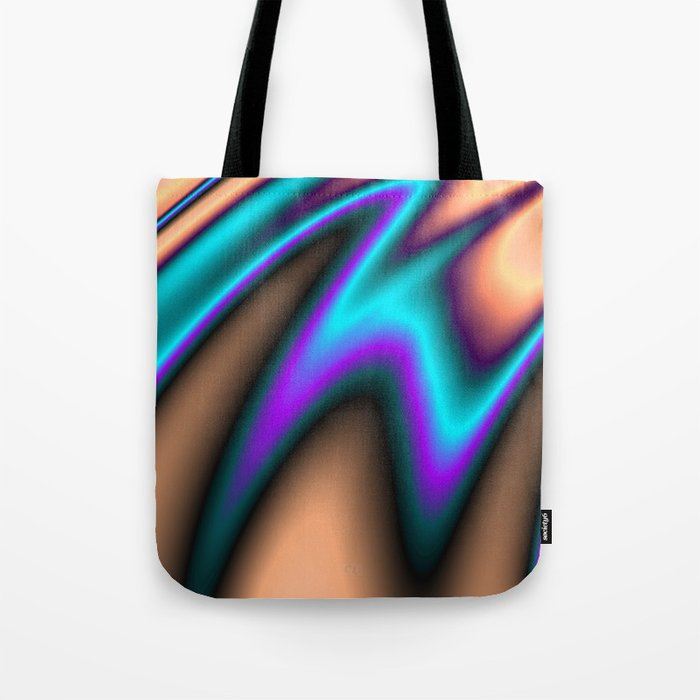 Abstract Fractal Colorways 03 Southwestern Tote Bag