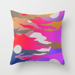 Camouflage and Circles I Throw Pillow