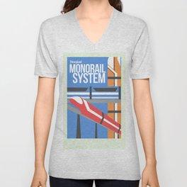 TL Series-Monorail System Unisex V-Neck