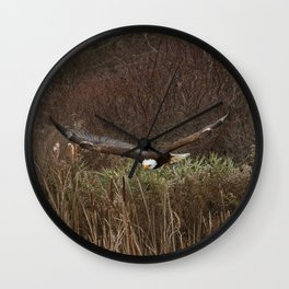 Skimming the reeds Wall Clock