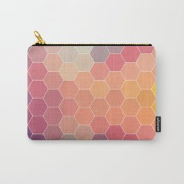 COLORFUL RETRO HEXAGONS HONEYCOMB Carry-All Pouch
