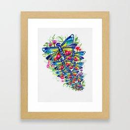 Tropical Dragonfly Garden Framed Art Print