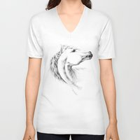 horse V-neck T-shirts featuring Horse by eDrawings38