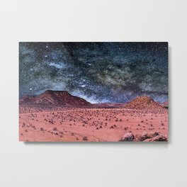 Milky Way Sky over Africa Metal Print