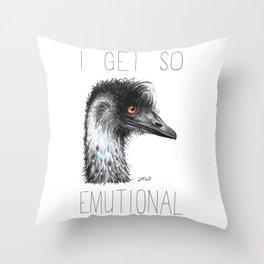 I Get So Emutional (Emu) Throw Pillow