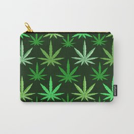 Marijuana Green Leaves Weed Carry-All Pouch