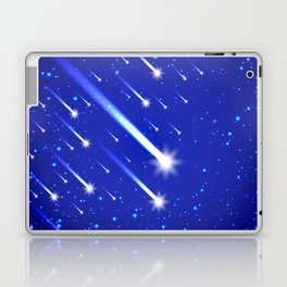 Space background with stars and comets Laptop & iPad Skin