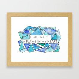 Light a Fire Framed Art Print