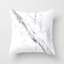 Carrara White Marble Throw Pillow