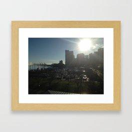sun rise over vancouver Framed Art Print