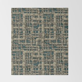 Pipes Throw Blanket