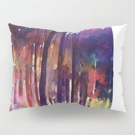 Lampi di luce nella foresta Pillow Sham