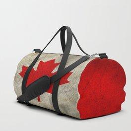 Vintage Canada Flag Duffle Bag