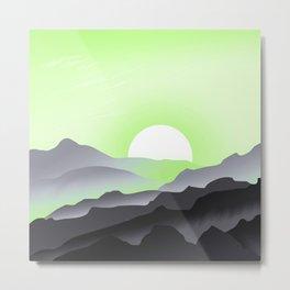 Agender Pride Sunrise Landscape Metal Print