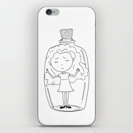 Girl in a Bottle iPhone Skin