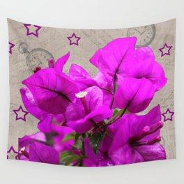 Petunias/Stars Wall Tapestry