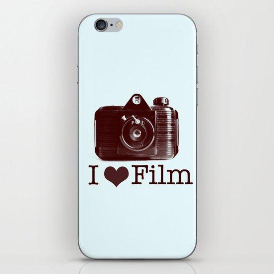 I ♥ Film (Maroon/Aqua) iPhone & iPod Skin
