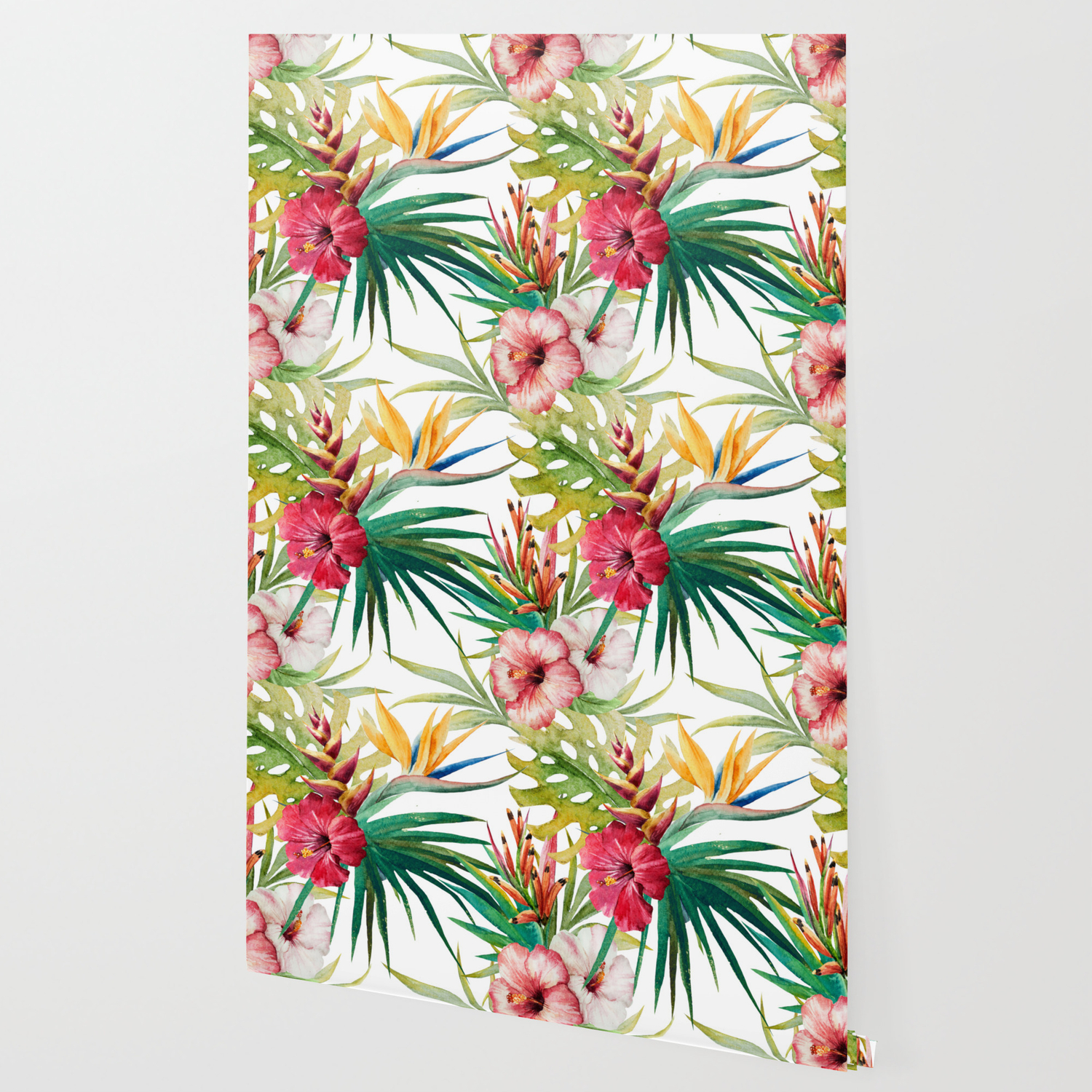 Tropical Floral Pattern 05 Wallpaper By Serigraphonart Society6