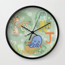 """""""J"""" Wall Clock"""