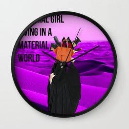 material girl Wall Clock