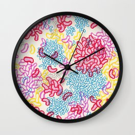 Party Painting Wall Clock