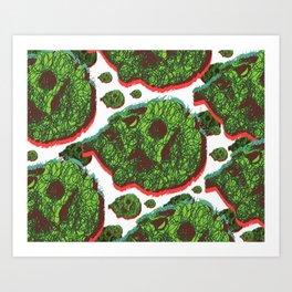 Plant skull  Art Print