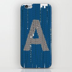 Winter clothes. Letter A. iPhone & iPod Skin