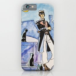 Corto Maltese with cats iPhone Case