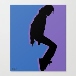 Pop King music Tee Shirt Canvas Print