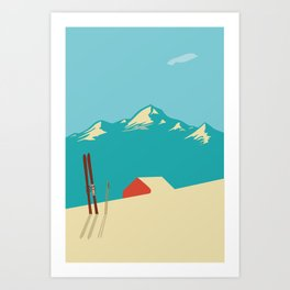 Vintage Mountains Art Print
