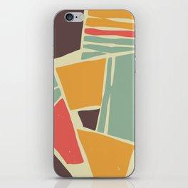 Broken color marble tiles iPhone Skin