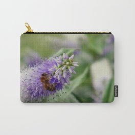 Bee Gathering Pollen on a Flower Carry-All Pouch