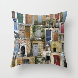 doors in london france belgium brussels england bruges europe french english art by australian Throw Pillow