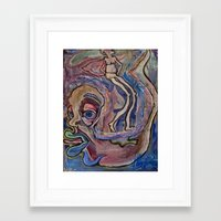 fault Framed Art Prints featuring Superman's Fault by Debra Slonim Art & Design