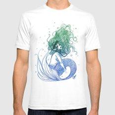 Mermaid 1 Mens Fitted Tee White MEDIUM