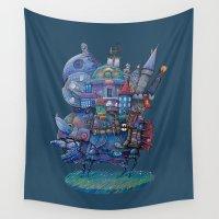 fandom Wall Tapestries featuring Fandom Moving Castle by nokeek