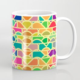 Bricks and waves in bright colors Coffee Mug