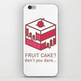 Fruitcake Sweaters Funny Lame Christmas Gift Meme iPhone Skin