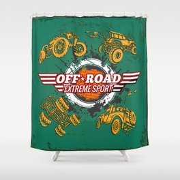 Offroad Extreme Sport Shower Curtain
