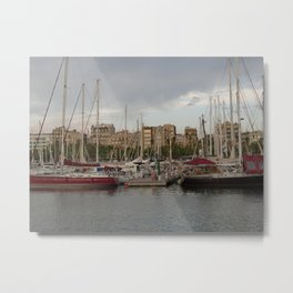 Barcelona Harbor Metal Print
