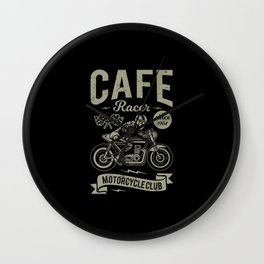 Cafe racer Wall Clock