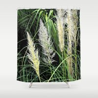 florida Shower Curtains featuring Florida Grasses by Glenn Designs